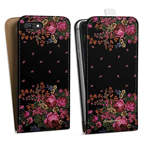 Apple iPhone X Silikon Hülle Case Schutzhülle Rosen Fashion Mode Downflip Tasche weiß