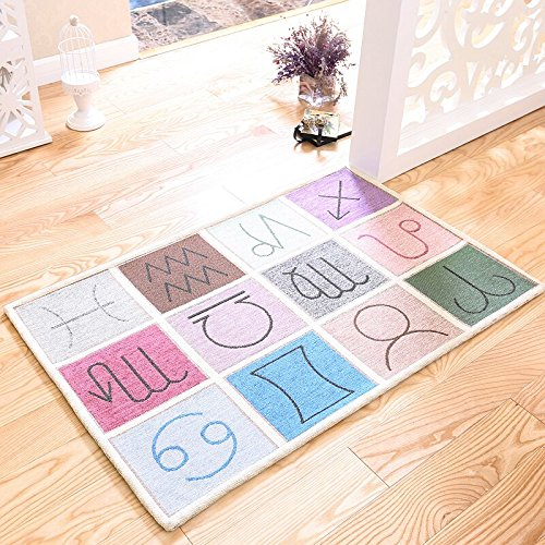 Cocpet Teppich Fußmatten Importiert Fußmatten Hause Matratze Fußmatte Tür Und Fußmatte Konstellation, Modernen Nordischen Einfachen Teppich Ztoyby (Size : 80 * 120cm)