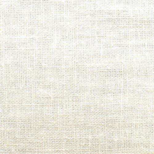 0% pures Leinen - körnige Leinenstruktur- weicher Fall - vorgewaschen - Stoff, Meterware (creme-weiß) ()