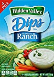 HIDDEN VALLEY THE ORIGINAL RANCH DIPS MIX 1 x 4 PACK ENVELOPES AMERICAN IMPORT
