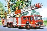 Unbekannt 1 Stück: Mini - Puzzle 24 Teile - Fahrzeuge & Feuerwehr - Castorland Auto Baustelle Kinder Kinderpuzzle Minipuzzle Minipuzzles - Mitgebsel / Preis für Kindergeburtstag - Jungen