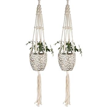 pflanzenh nger indoor outdoor baumwolle seil pflanzen aufh nger blumentopf pflanzen halter 41 3. Black Bedroom Furniture Sets. Home Design Ideas