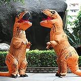 Aufblasbare Dinosaurier T-Rex Kostüm – Adult eine Größe Kostüm Halloween Outfit – mit Batterie betriebenen Ventilator - 4