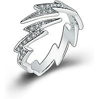 AUIN, anello aperto in argento 925 con delfino, gioiello, accessorio, regalo per amici, amanti, misura regolabile, in un…