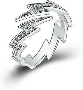 AUIN, anello aperto in argento 925 con delfino, gioiello, accessorio, regalo per amici, amanti, misura regolabile, in un sacchetto portagioielli