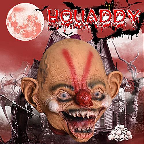 HOUADDY Halloween Requisiten Angst Maske Bloody Horror Kopf Erwachsene Kostüm Party Corpse Kopf Ornament für Halloween Friedhof Szene Cosplay DIY Häuser Partydekorationen - Einfach Zu Hause Teufel Kostüm