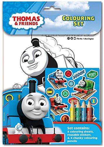 """Anker THCST Thomas & Friends Malbuch mit Stiften, mit Motiven aus der Serie """"Thomas, die kleine Lokomotive"""""""