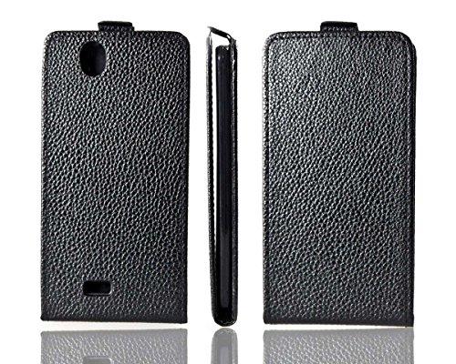 caseroxx Kazam Trooper 450 Funda Flip Cover Carcasa con Flip para el Smartphone (Flip Case en Negro)