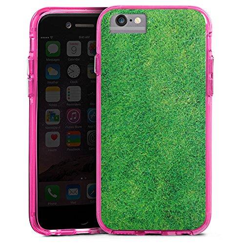 Apple iPhone 8 Bumper Hülle Bumper Case Glitzer Hülle Gras Rasen Grashalme Bumper Case transparent pink