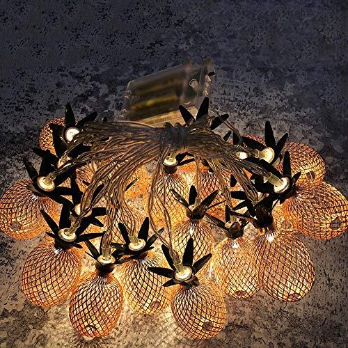 Tianya - Ananas-Led-Schnur Beleuchtet Dekoration, Weihnachtsfest-Hochzeitsfest-Dekoration 3M, 20 Lichter Ananas-Schnur-Licht * ()