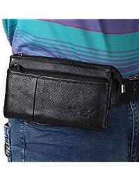 Buyworld New High Quality Genuine Fanny Waist Bag Men Casual Mobile Phone Purse Bags Sling Chest Bag