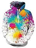 Loveternal Unisex lustige Bunte Farbe Design gedruckt Langarm Fleece Pullover Hoodies Sweatshirt für Teen Jungen Mädchen M