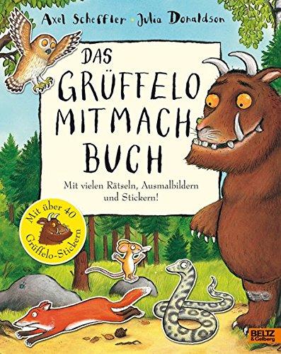 Buchseite und Rezensionen zu 'Das Grüffelo-Mitmachbuch: Mit vielen Rätseln, Such- und Ausmalbildern und Stickern' von Axel Scheffler