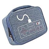 Sharplace 1x Aufbewahrungsbeutel mit Trennwände gepolstert Schutz Etui Elektronisches Zubehör Schutzhülle für Nintendo - Blau