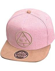 Thenice - Gorra con visera de hip hop, béisbol, modelo triangular, clásica, mujer Unisex Hombre Jóvenes, rosa, talla única