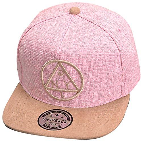 THENICE Damen Hip-Hop Dreieck Muster Cap Baseball Hut (rosa) - Rosa Baseball Cap