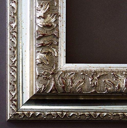 Spiegel Wandspiegel Badspiegel Flurspiegel Garderobenspiegel - Über 200 Größen - Rom Silber 6,5 - Außenmaß des Spiegels 70 x 100 - Wunschmaße auf Anfrage - Antik, Barock