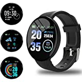Smartwatch Orologio Fitness Tracker Uomo Donna, Bluetooth Smart Watch Cardiofrequenzimetro da Polso Schermo Colori Orologio S
