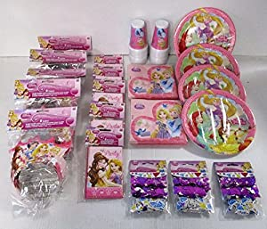 Disney Princess Party Pack - Cinderella, Snow White, Rapunzel Pack for 30