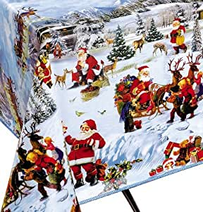 CA Wachstuch Tischdecke Weihnachtsmotiv 110cm x 140 cm 25-A