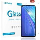 GEEMEE pour realme 6 Verre trempé Premium Film Protecteur d'écran,Ultra Clair 9H Film Protection Ecran en Verre Trempé Glass Screen Protector pour realme 6-2 Pack