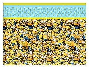 Procos 87179-Mantel de plástico Minions, amarillo/azul