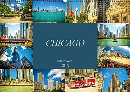 Chicago Impressionen (Wandkalender 2019 DIN A2 quer): Beeindruckende, faszinierende Impressionen von Chicago (Monatskalender, 14 Seiten ) (CALVENDO Orte)