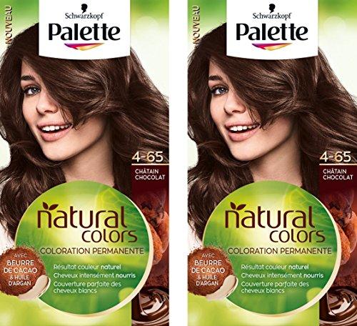 Schwarzkopf - Palette Natural Colors - Coloration Permanente - Châtain Chocolat 4.65  - Lot de 2