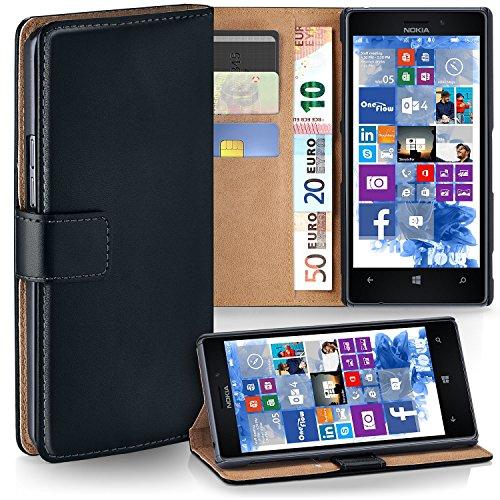 Bolso OneFlow para funda Nokia Lumia 925 Cubierta con tarjetero | Estuche Flip Case Funda móvil plegable | Bolso móvil funda protectora accesorios móvil protección paragolpes en