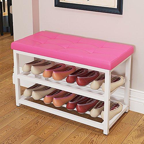 ZXQZ Repose-pieds créatif / tabouret de porte / Tabouret de rangement / tabouret de canapé de salon (3 couleurs disponibles) repose-pieds de stockage ( Couleur : Rose , taille : 90cm )