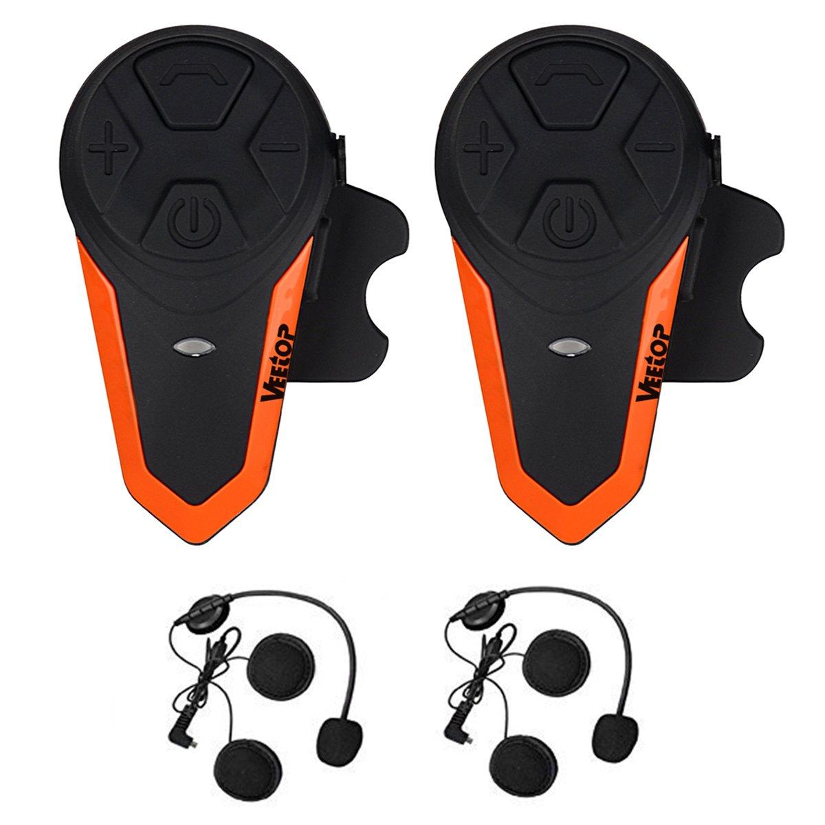 5934396c9cd oferta en Intercomunicador Bluetooth Veetop para Casco de Moto 1000M ...