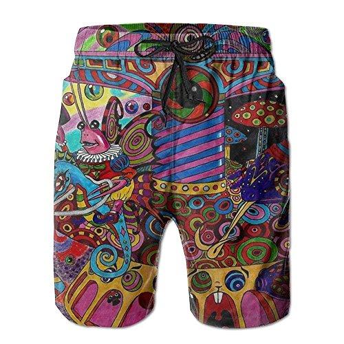 IconSymbol Die Strand-Hosen der neuen bunten psychedelischen Trippy Kunst-Männer, Kurze Hosen Strand-Kurze Hosen-Badehose - Herren Carpenter Jeans Kurze