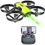 Loolinn | Drones con Camara para Niños - Mini Drone Cuadricóptero, Dron con Cámara Ajustable / FPV Transmisión en Tiempo Real