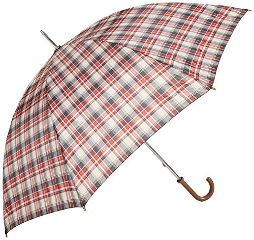 rain-street-folding-umbrella-simple-checks-automatic-wind-resistant-red