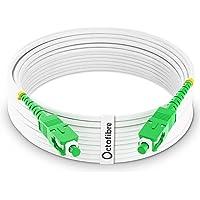 Octofibre - Câble Fibre Optique Orange SFR Bouygues - 10m - Renforcée Avec Blindage Kevlar - Rallonge/Jarretiere Fibre…