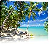 Palm beach rêve sur la toile, format XXL support en bois, Leinwand Format:100x70 cm