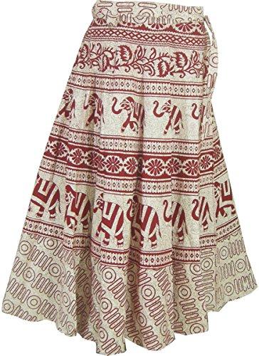 Baumwolle Wickelrock Designer Abendkleider Indien Kleidung (Kleidung Aus Indien)