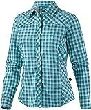 OCK Damen Hemd Bluse lang Funktions, blau I, 40, 205749