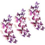KANOSON Vlinderstickers, 36 stks Verwijderbare 3d Vlinder Muursticker met Magnetische en Lijm, Decoratieve Vlinders voor Muur