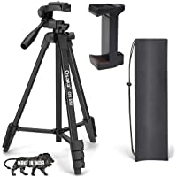 Osaka OS 550 Tripod 55 Inches with Mobile Holder and Carry Case for Smartphone & DSLR Camera Portable Lightweight…