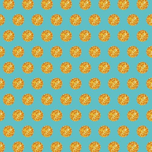 Apple iPhone SE Case Skin Sticker aus Vinyl-Folie Aufkleber Gold Kreise Muster Blau DesignSkins® glänzend