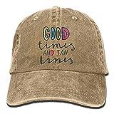 bowlife Good Times Tan Lines Denim Hat Dad Hat