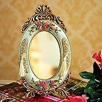 SUUNHHEuropean antico specchio home decorazioni regali ornamenti