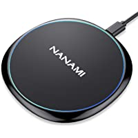 NANAMI Fast Wireless Charger,Qi Ladegerät Wireless Charging pad für iPhone 12 11 X XS Max XS XR 8 8 Plus AirPods,10W…