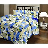 Home Spaces Floral Single Blanket Blue (AC Dohar, One Single Bed Reversible AC Blanket)