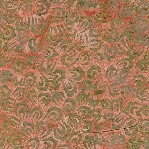 Corallo Bali, 100% cotone batik Tie Dye Patterns tessuto per patchwork e quilting, (prezzo al metro/Quarto