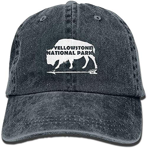 Yellowstone Nationalpark Old Faithful Buffalo Gewaschene Retro Adjustable Jeans Caps Hip Hop Caps für Frau und Mann