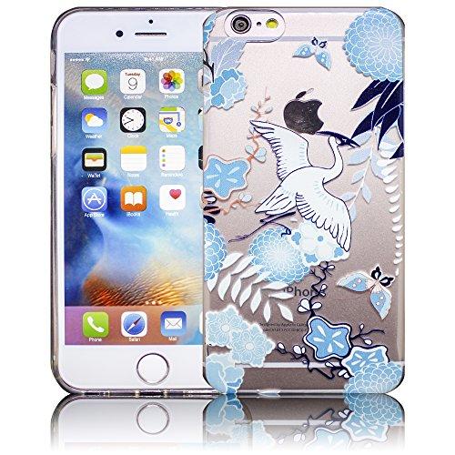 Apple iPhone 6 / iPhone 6S - Design 11 Silikon Crystal Kristall clear transparent durchsichtig Schutz-Hülle Hülle weiche Tasche Cover Case Bumper Etui Flip smartphone handy backcover Schutzhülle Handy Design 10