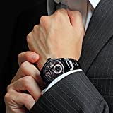 Prime-Day-Sale-Anthony-James-Vintage-Black-Mens-Dress-Watch-Smart-Durable-Design-for-the-Modern-Man-with-Black-Metal-Case-Metal-Wrist-Band-and-Lifetime-Manufacturers-Warranty