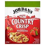 Jordans Country Crisp Strawberry - 400g - Cornflakes mit Erdbeere - Packung